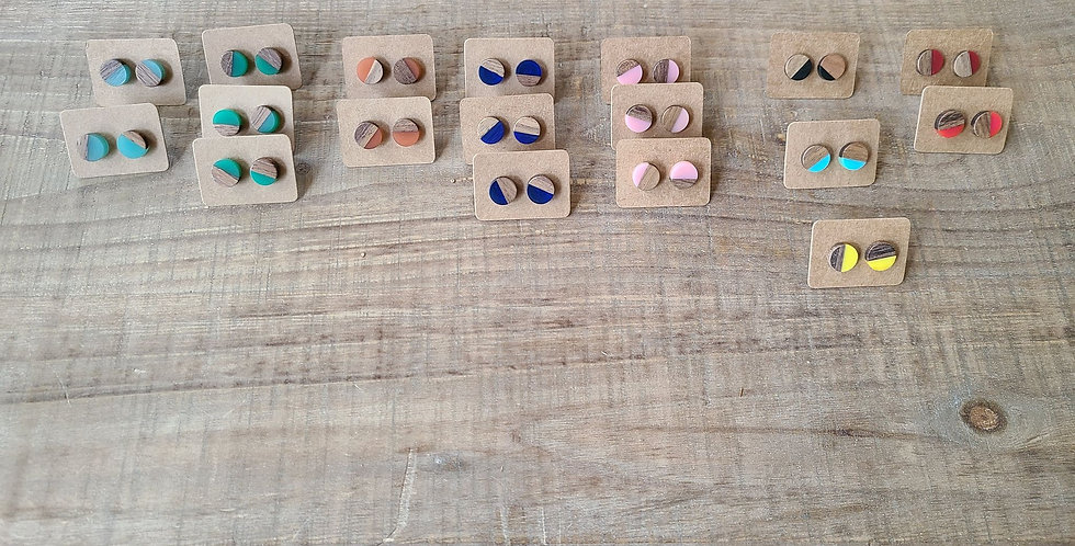 Resin & Wood Earring