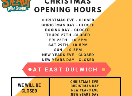 East Dulwich Christmas + New Year Opening Hours