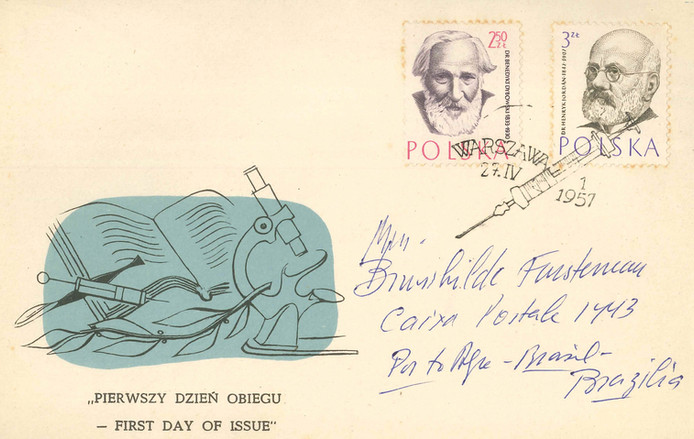Postal em homenagem a Ernst Ruska