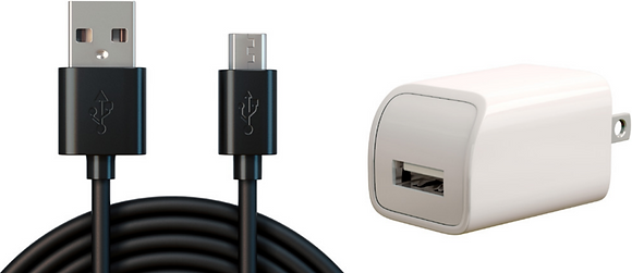 MicroUSB Cable & Power Adapter