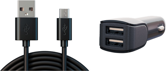 MicroUSB Cable & Car Adapter
