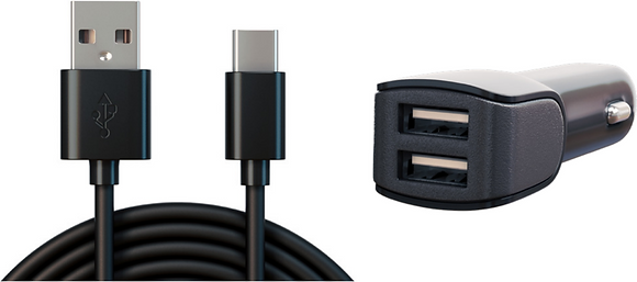 USB-C Cable & Car Adapter