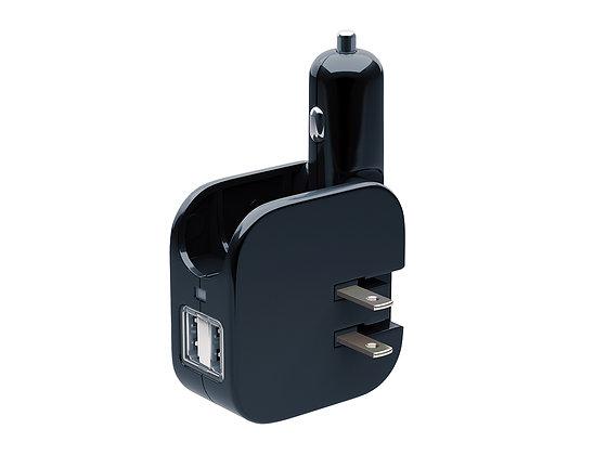 Power & Car Combo Adapter - 2.4 Amp