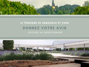 Création de l'Office de Tourisme de l'Armagnac : un questionnaire pour les acteurs du tourisme !
