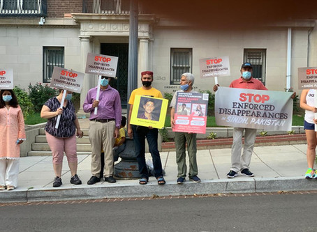 D.C. Sindhis Protest Recent Escalation in Human Rights Violations in Pakistan