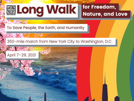 Announcing the Long Walk for Freedom, Nature, and Love