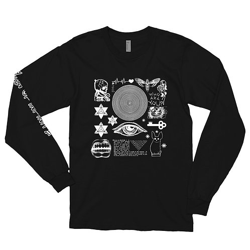 Block Collage #1 | White Print | Long sleeve t-shirt