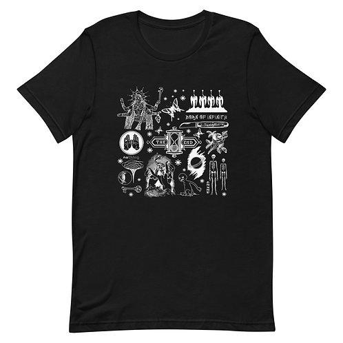Block Collage #2   White Print   Short-Sleeve Unisex T-Shirt