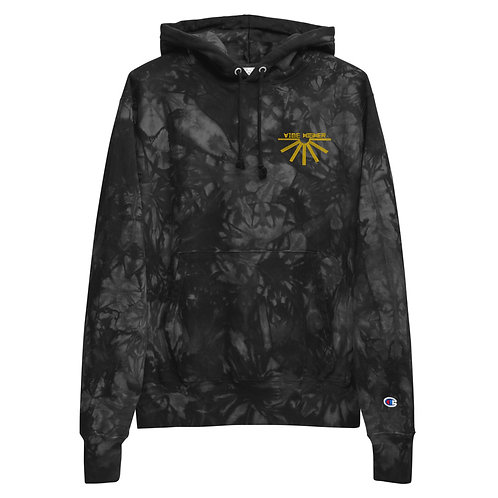 Vibe Higher   Embroidery   Unisex Champion tie-dye hoodie