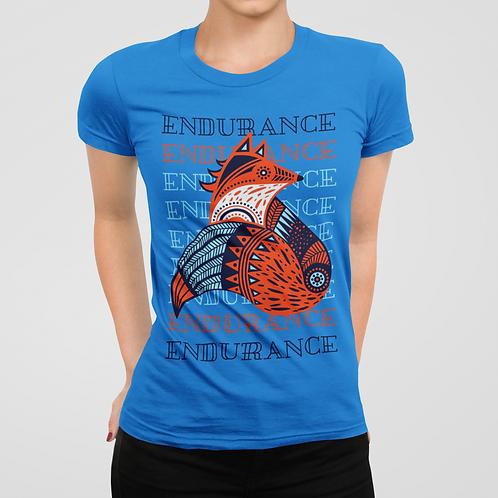 Endurance Colorful Fox Design Short-Sleeve Unisex T-Shirt