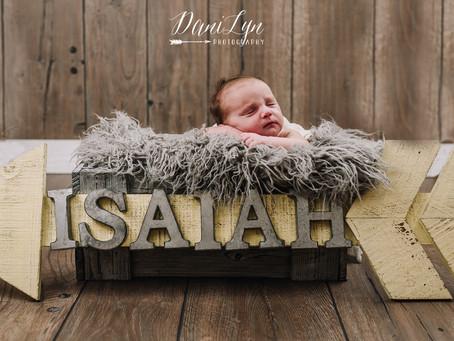 Isaiah's Newborn Session | August 2018