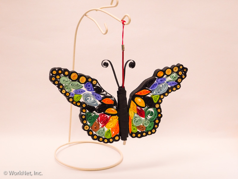 Quilled hanging butterfly