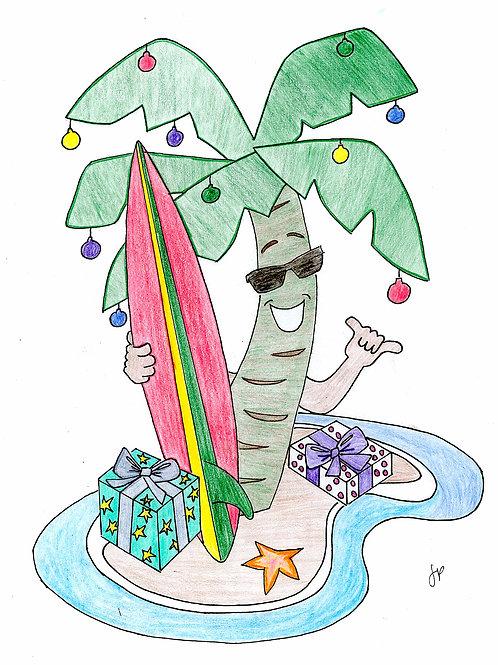 Surfin Palm Tree