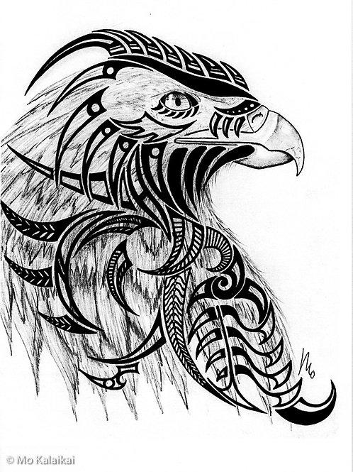 Blank Card - Tribal Eagle by Mo Kalaikai