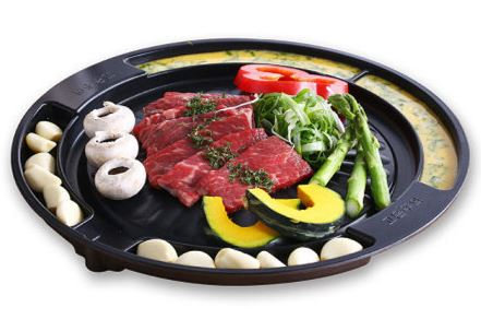 BBQ partition grill (round)