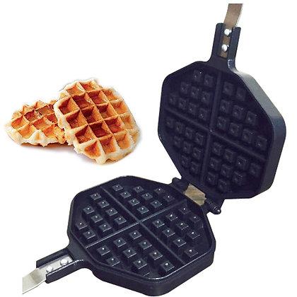 Waffle maker double pan