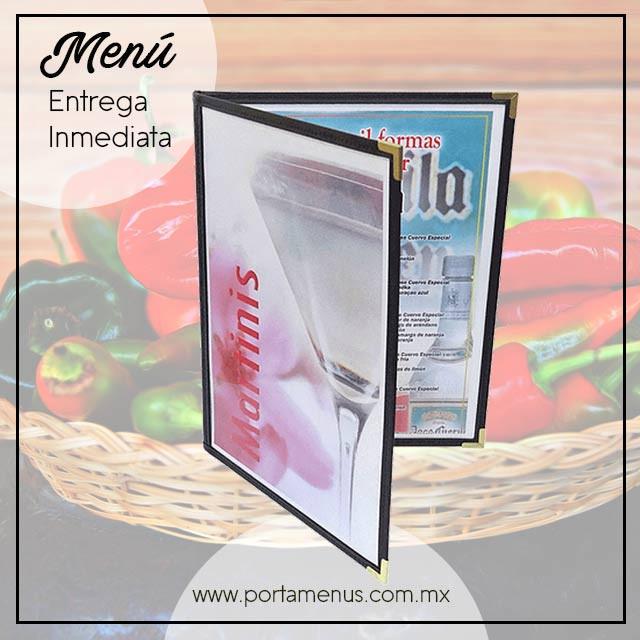 Porta menú entrega inmediata México