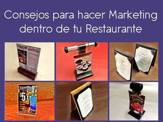 Consejos para hacer Marketing dentro de tu Restaurante