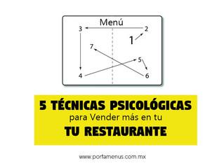 Usa estas 5 técnicas psicológicas para vender más en tu Restaurante