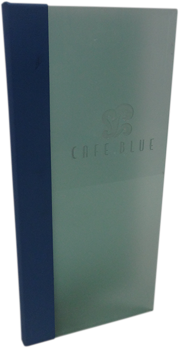 Portamenús - Acrílico Azul