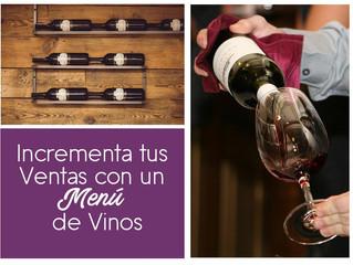 Tips: Incrementa tus ventas con un Menú de Vinos