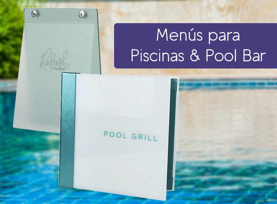 Menus para piscinas y pool bar para hotel