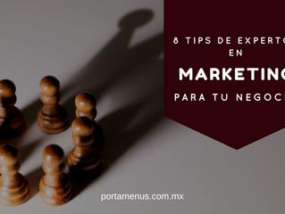 8 Consejos de expertos para el marketing de tu empresa de la revista Entrepreneur.