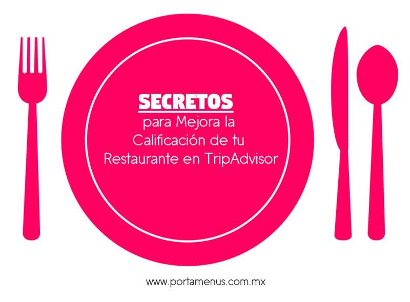 Secretos para mejorar la calificación de tu Restaurante en TripAdvisor - Portamenús México