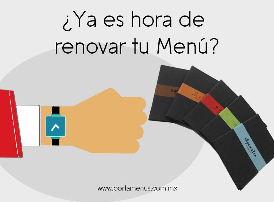 Ya es hora de renovar tu Menú - Restaurante México Portamenus