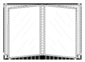Portamenú Contemporary  2 Paneles