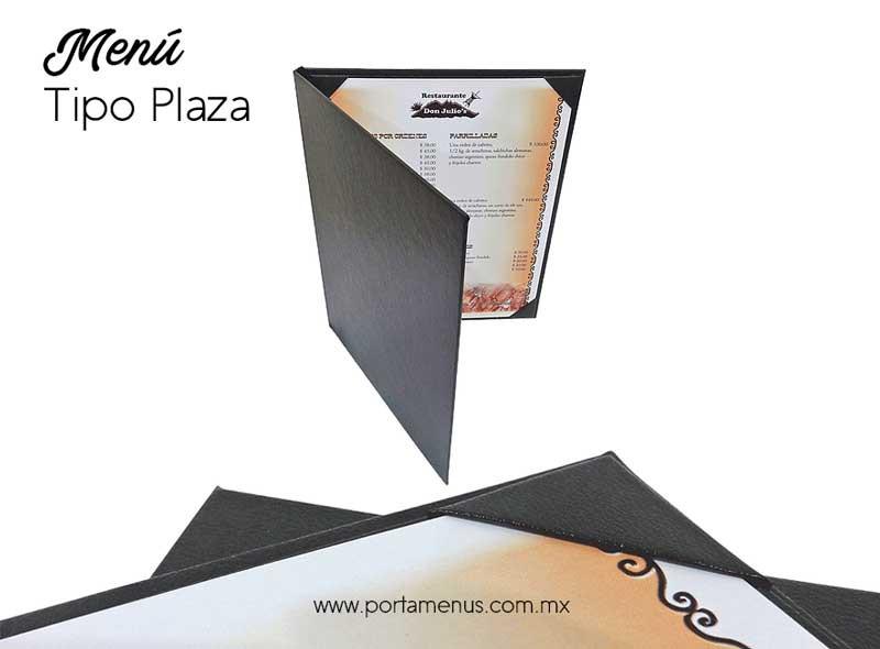 Cubierta de Menú para Restaurante tipo Plaza