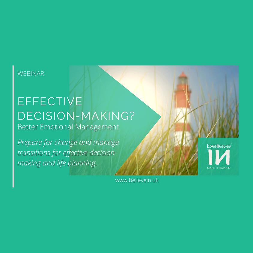Effective Decision-Making? Better Emotional Management.