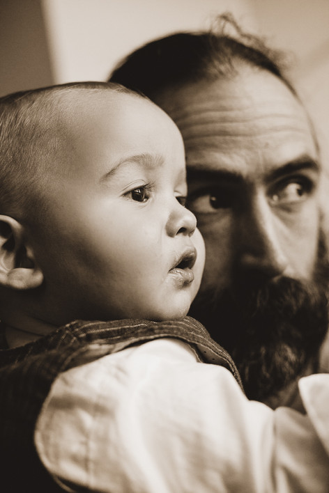 Oliver and dad Tamas