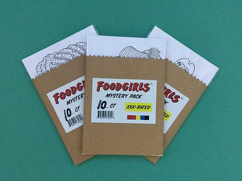 Foodgirls Postcard Mystery 10-Pack by Lizzee Solomon