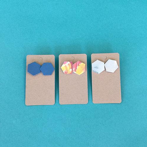 Hexagon Stud Earrings by xo Moe