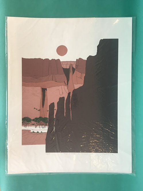 Canyon Landscape Screenprints by Joan Rogers