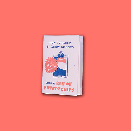 How to Block Location Tracking mini zine by Christina Lee