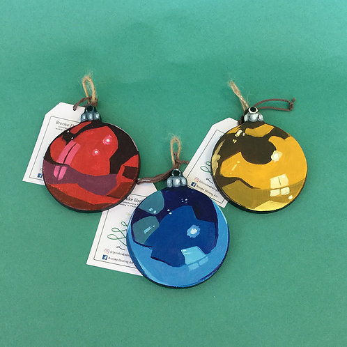 Oil-Painted Ornaments by Brooke Eberling