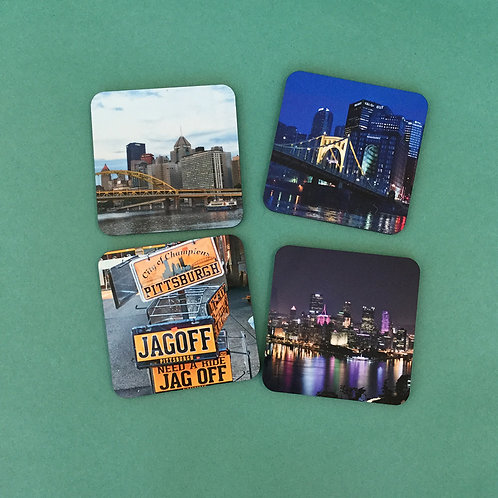 Pittsburgh Coaster Set by EB Photography PGH