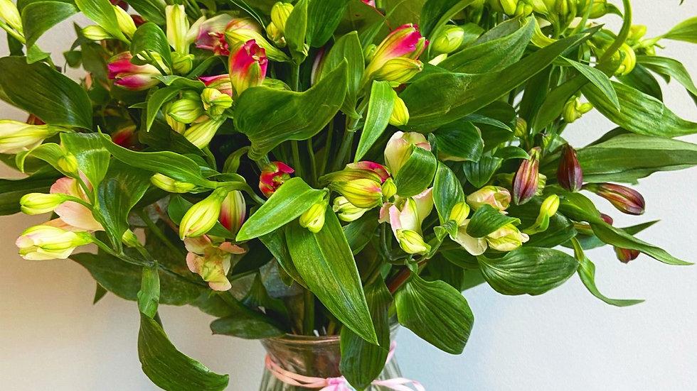 Large alstroemeria vase