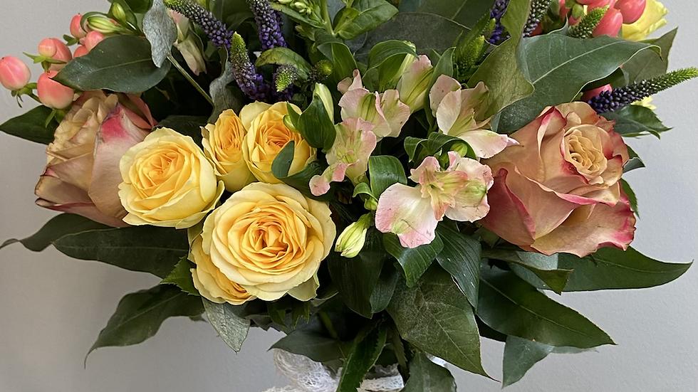 Beautiful mixed flower vase