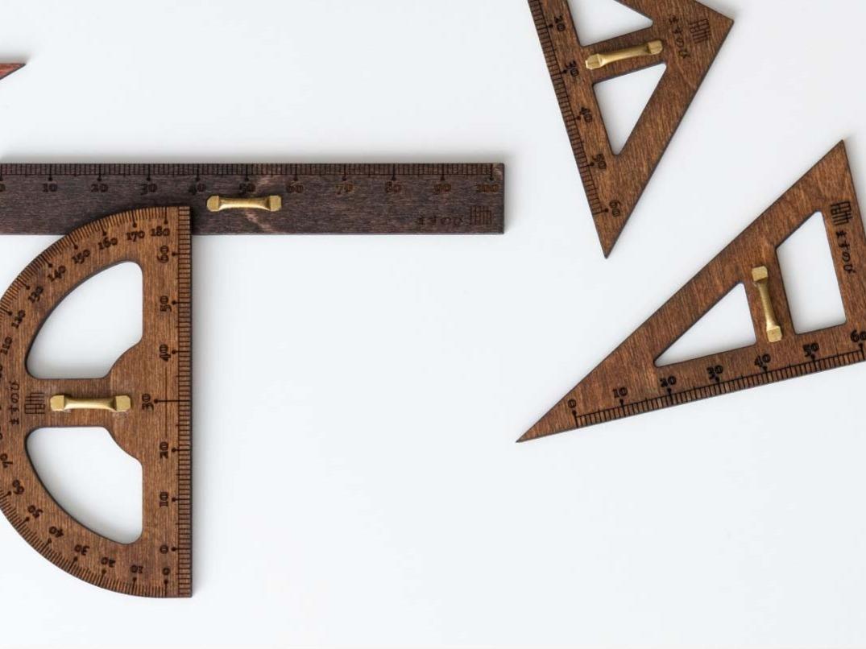 「ますのび」教授用木製定規せっと(ミニ)