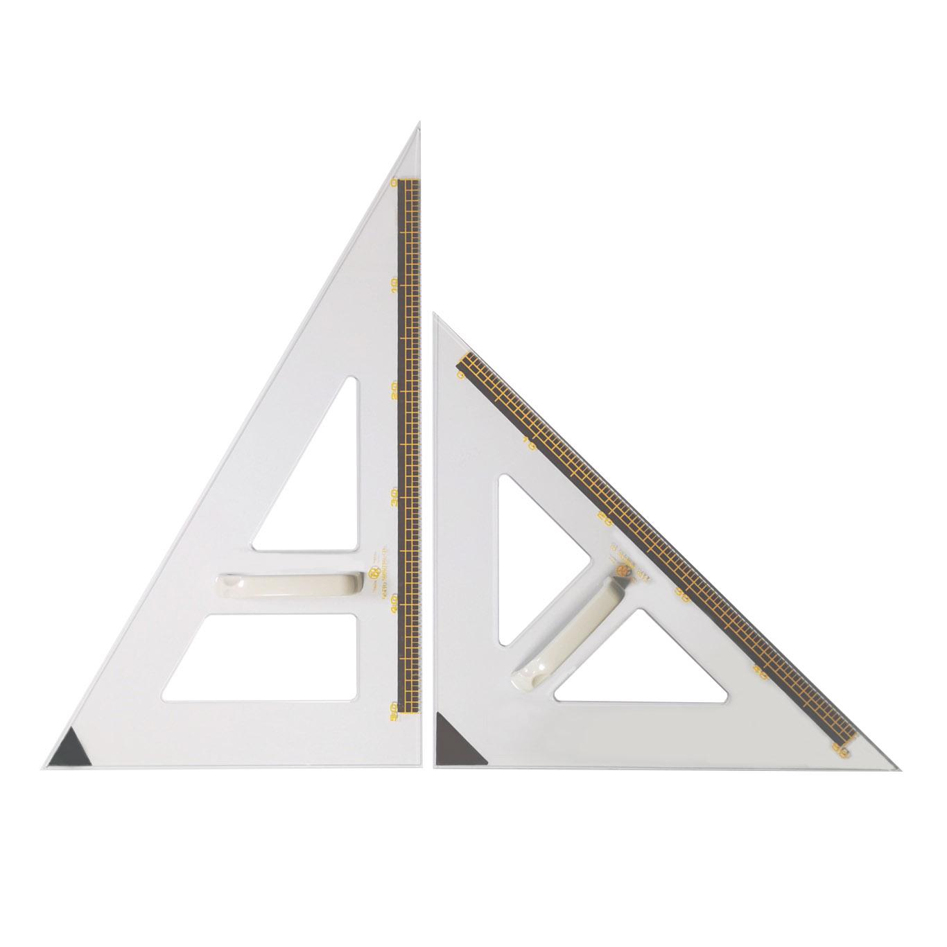 教授用透明三角定規(磁石付)