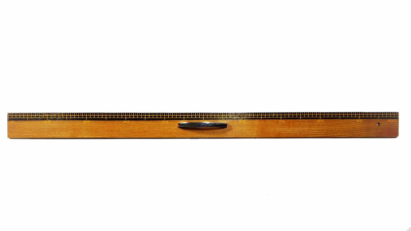 教授用木製1m直定規