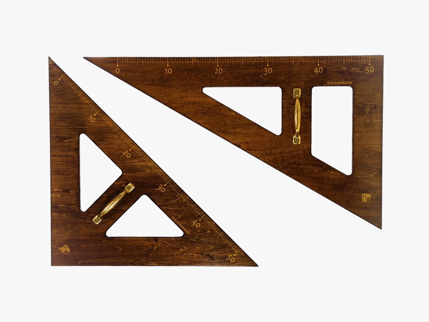 「ますのび」教授用木製三角定規(大)