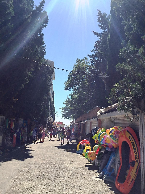 рынок перед набережной