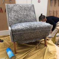 A nursing chair in progress