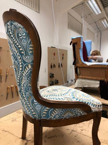 Stunning chair and fabric reversal.