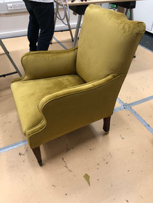 The 'not so easy' easy chair in all its completed glory!