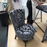 Round seated nursing chair